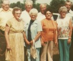 1978 Brewster Reunion. Dore & Hazel Brewster, Bernice & Bob Dudgeon, Arlie & Elva Ellenberger, Dorothy & Arthur Weaver.