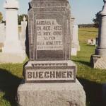 Barbara Anna Schumm Buechner, nee Pflueger (1822-1908), Zion Lutheran Cemetery, Schumm, Ohio