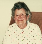 Velma (Hofmann) Ehlerding (1915-2010) d/o Mollie Schinnerer & Theodore Hofmann, w/o Edger Ehlerding (2001 photo)