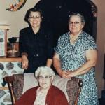 Three Generations: Pearl (Reid) Brewster, Gertrude (Brewster) Miller, Ruth (Miller) Werner
