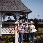 Lula Allmandinger & Scaer Sisters: Elsie Roehm, Hilda Schumm, Edna Schumm.