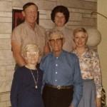 Hilda & Cornelius Schumm, Herb & Florence (Schumm) Miller, Karen (Miller) Bennett (1975)