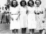 Junior Roehm, Albert Schlegel, Phyllis (Gunsett) Dietrich, Esther (Schumm) Krueckeberg, Ella (Roehm) Thieme, Hildegarde Schumm