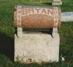 Tombstone of John & Hannah Bryan, Limberlost Cemetery, Jay County, Indiana