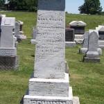 """Anna """"Rosine"""" (Schinnerer) Schumm tombstone, Zion Lutheran Cemetery, Schumm, Ohio."""