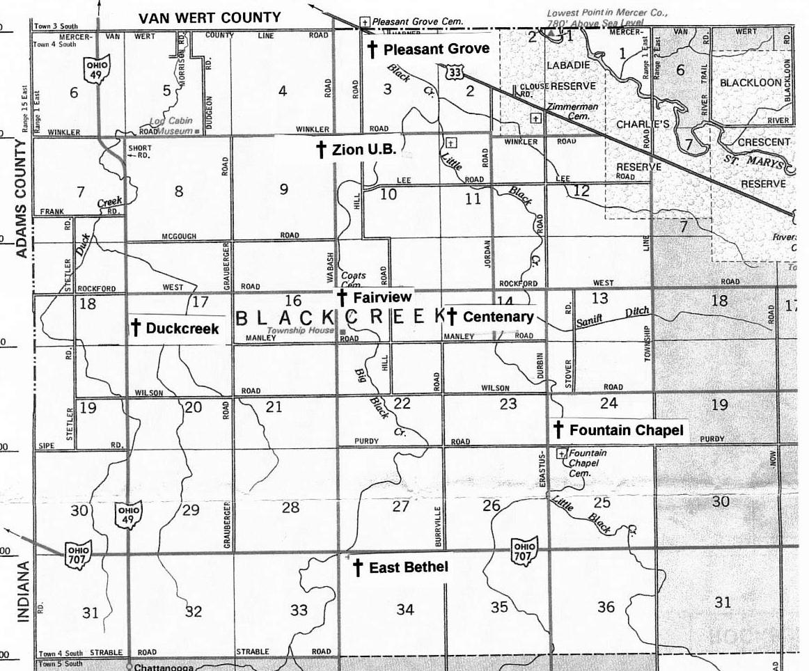 Ohio mercer county rockford - Black Creek Township Mercer County Ohio