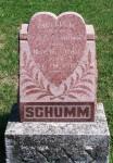 Curtis R. Schumm tombstone, Zion Lutheran Cemetery, Schumm, Ohio.