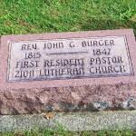 Rev. John G. Burger, Zion Lutheran Cemetery, Schumm, Ohio