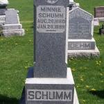 Minnie (Breuninger) Schumm, Zion Lutheran Cemetery, Schumm, Ohio.