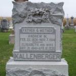Andrew M. & Elisabeth Kallenberger, Zion Lutheran Cemetery, Chattanooga, Ohio.