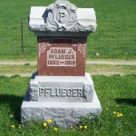 Adam J. Pflueger, Zion Lutheran Cemetery, Van Wert County, Ohio.