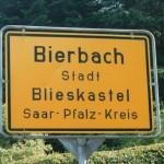 Bierbach town sign.