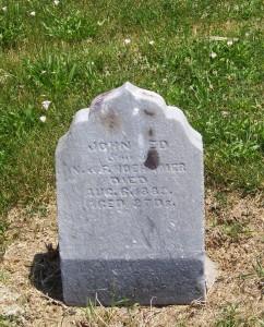 John Ed Hoehamer, Mount Hope Cemetery, Adams County, Indiana. (2013 photo by Karen)