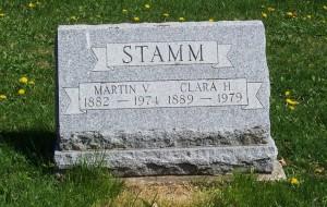 Martin V. & Clara H. Stamm, Zion Lutheran Cemetery, Schumm, Van Wert County, Ohio. (2012 photo by Karen)