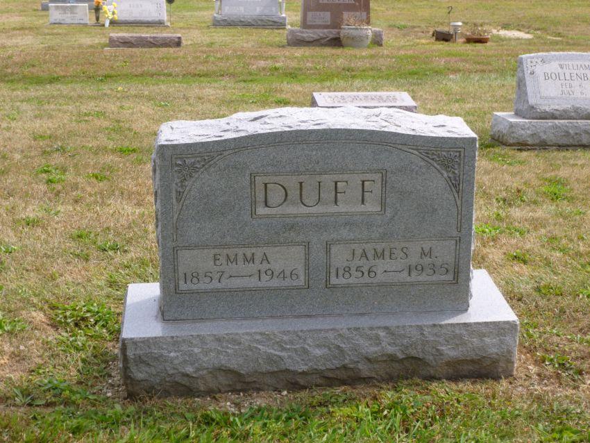 Tombstone Tuesday�James M. & Emma Duff � Karen's Chatt