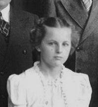 Emilene Miller confirmation, 1938, Zion Lutheran, Chatt.