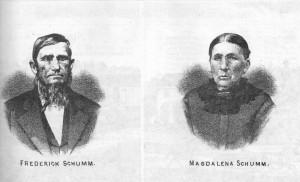 Friederich & Magdalena (Meyer) Schumm, 1882.