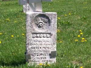 Johann Jacob Schumm, s/o Ludwig; Zion Lutheran Cemetery, Schumm, Van Wert County, Ohio. (2012 photo by Karen)