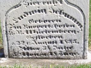 Ludwig Schumm, Zion Lutheran Cemetery, Schumm. (2012 Photo by Karen)