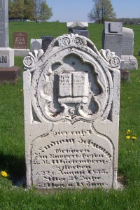 Ludwig Schumm, Zion Lutheran Cemetery, Schumm, Van Wert County, Ohio. (2012 photo by Karen)