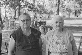 Grandma Miller (Gertrude Brewster Miller) and Great-grandma Brewster (Pearl Reid Brewster)