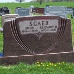 John & Elizabeth (Schinnerer) Scaer, Zion Lutheran Cemetery, Schumm, Van Wert County, Ohio. (2012 photo by Karen)