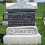 Friedrich & Elisabeth (Schumm) Schinnerer, Zion Lutheran Cemetery, Schumm, Van Wert County, Ohio. (2012 photo by Karen)