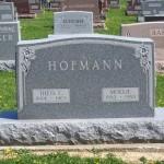 Theodore C. & Mollie Hofmann, Zion Lutheran Cemetery, Schumm, Van Wert County, Ohio. (2014 photo by Karen)