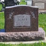 Oscar J. Scaer, Zion Lutheran Cemetery, Schumm, Van Wert County, Ohio. (2012 photo by Karen)
