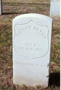 Hallot Bryan, Memphis National Cemetery. (2014 submitted photo)