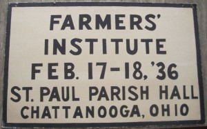 Chattanooga Farmers' Institute, 1936.