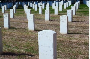 Hallot Bryan's military marker, Memphis National Cemetery. (2014 photo, submitted)