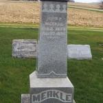 John F. Merkle, Zion Lutheran Cemetery, Chattanooga, Mercer County, Ohio. (2011 photo by Karen)
