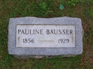 Pauline Bausser, Zion Lutheran Cemetery, Mercer County, Ohio. (2011 photo by Karen)