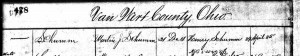 Schumm's first two postmasters, Jartin J. Schumm (1881), Henry Schumm (1885). [2]