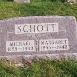 Michael & Margaret Schott, Zion Lutheran Cemetery, Chattanooga, Mercer County, Ohio. (2011 photo by Karen)