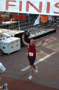 2008 Columbus Marathon. Jeff qualifies for the Boston Marathon!