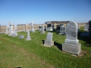 Emerich family, row 8, Kessler Cemetery, right to left: Philip & Maretha; John, Catherina, Philip & Philipina. (2014 photo by Karen)