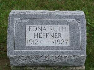 Edna Ruth Heffner, Zion Lutheran Cemetery, Chattanooga, Ohio.