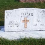 Albert & Ethel Heffner, Zion Lutheran Cemetery, Chattanooga, Mercer County, Ohio. (2011 photo by Karen)