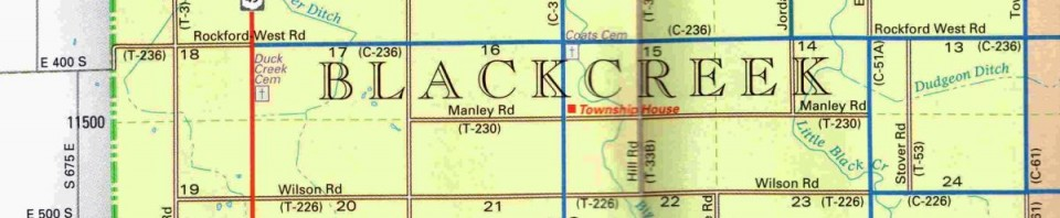 Blackcreek Township, Mercer County, Ohio.