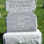 William Schumm, Zion Lutheran Cemetery, Van Wert County, Ohio. (2012 photo by Karen)