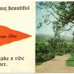 Chattanooga, Ohio, postcard postmarked 1914