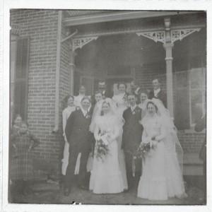 Roehm Wedding, 6 May 1900, Schumm, Van Wert County, Ohio.