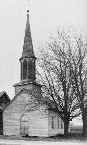Another view of Zion's frame church.