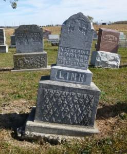 Katharina (Hiller) Linn, Kessler Cemetery, Mercer County, Ohio. (2015 photo by Karen)