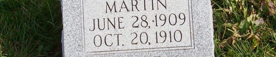 Eletha Martin, Zion Lutheran Cemetery, Chattanooga, Mercer County, Ohio. (2011 photo by Karen)