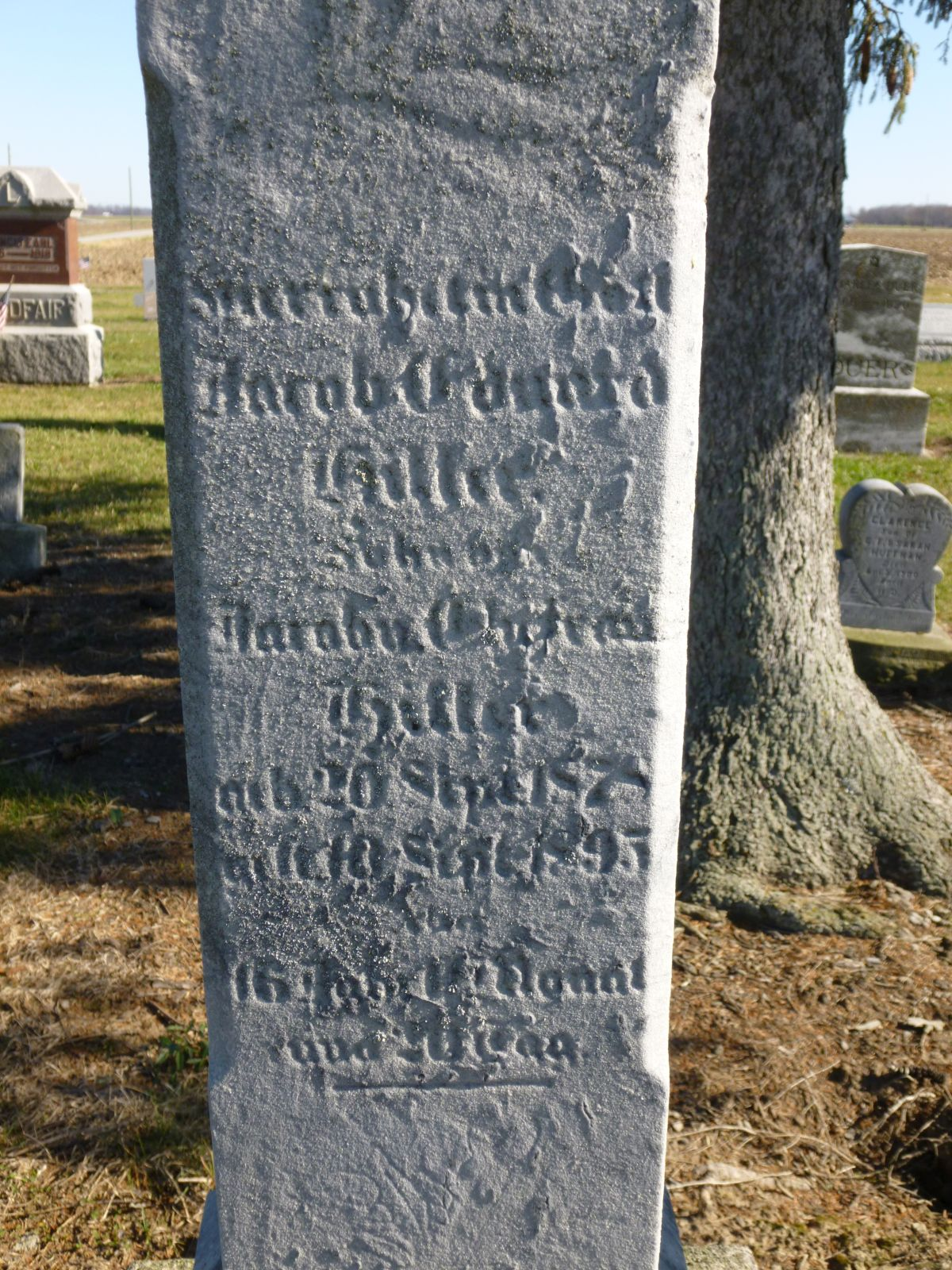 Ohio mercer county rockford - Jacob Edward Hiller Kessler Cemetery Liberty Township Mercer County Ohio