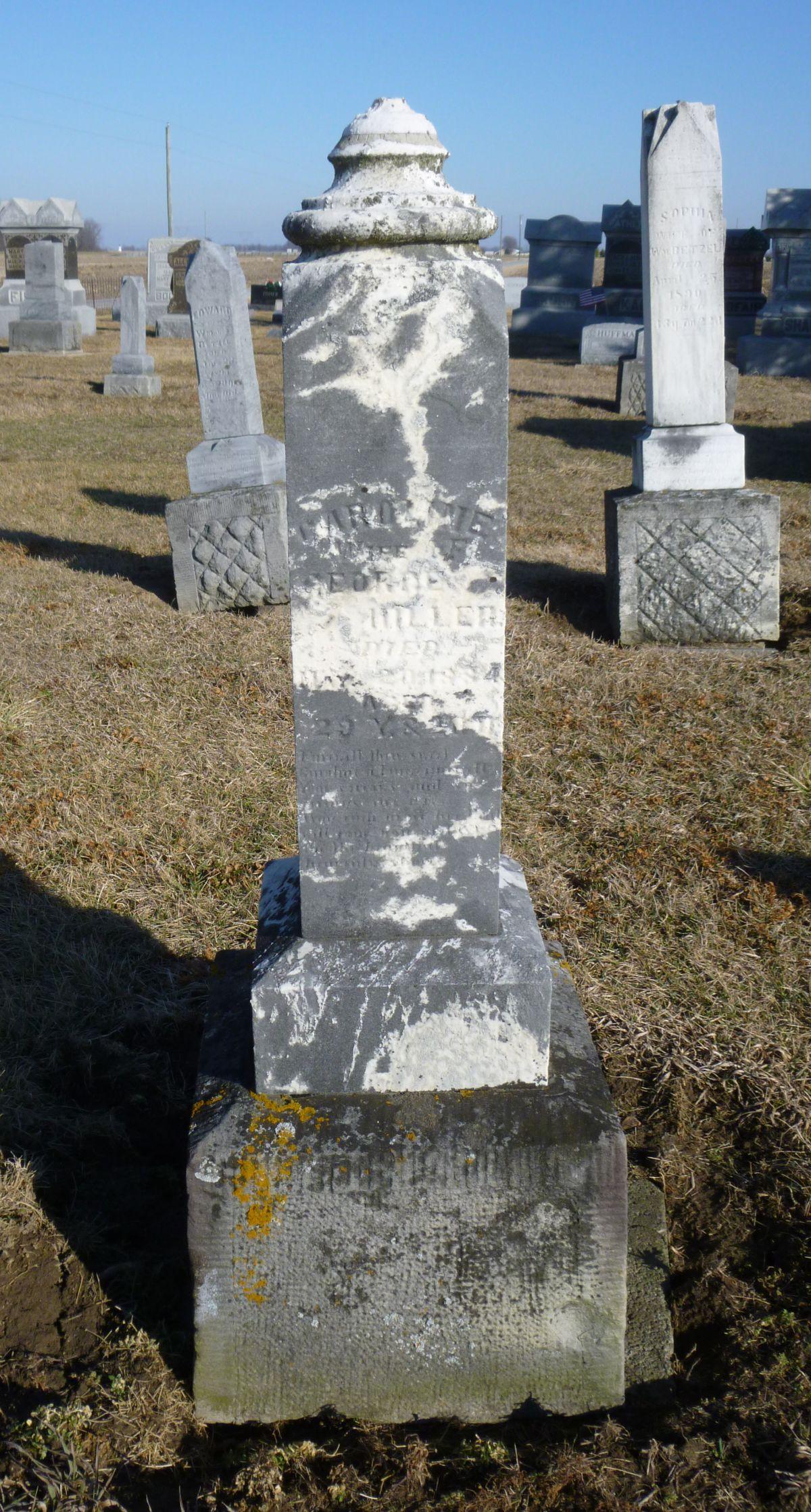 Ohio mercer county rockford - Caroline Hiller Kessler Cemetery Mercer County Ohio 2016 Photo By Karen