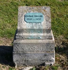 George Hiller, Kessler Cemetery, Mercer County, Ohio. (2015 photo by Karen